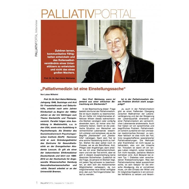 """""""Palliativmedizin ist eine Einstellungssache"""""""